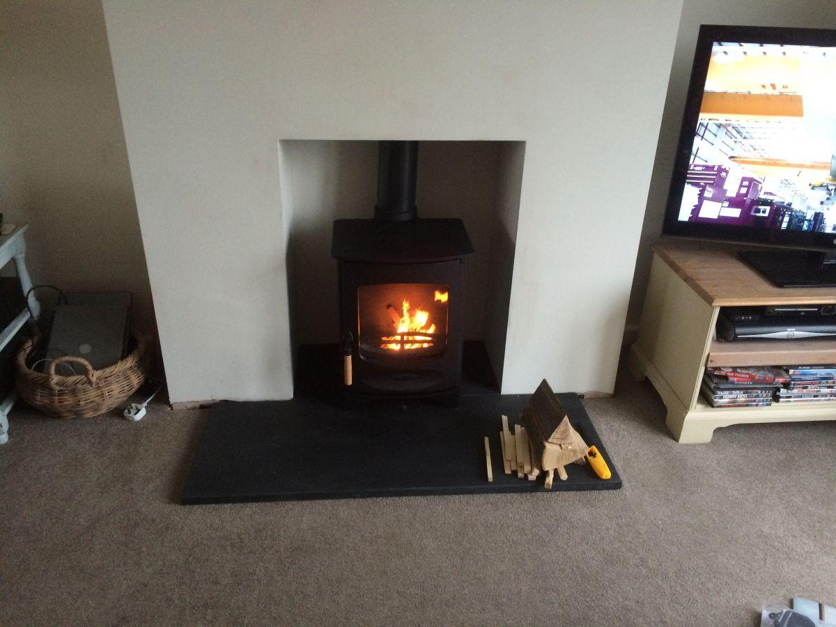 Charnwood C4 woodburner install Street