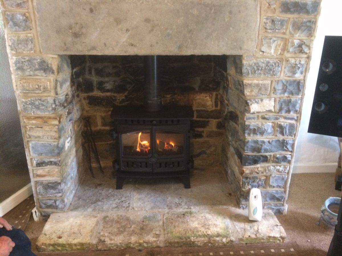Installation of Hunter Herald 8 Wood Burning Stove in Langport, Somerset