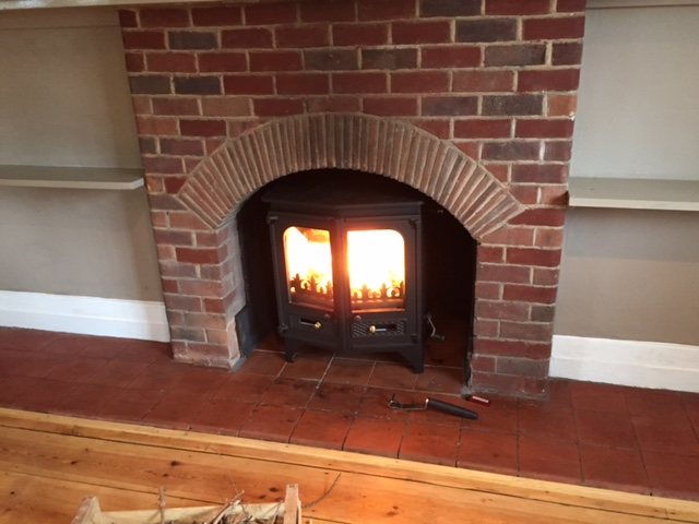Installation Charnwood Stove & Fireplace Rebuild in Minehead