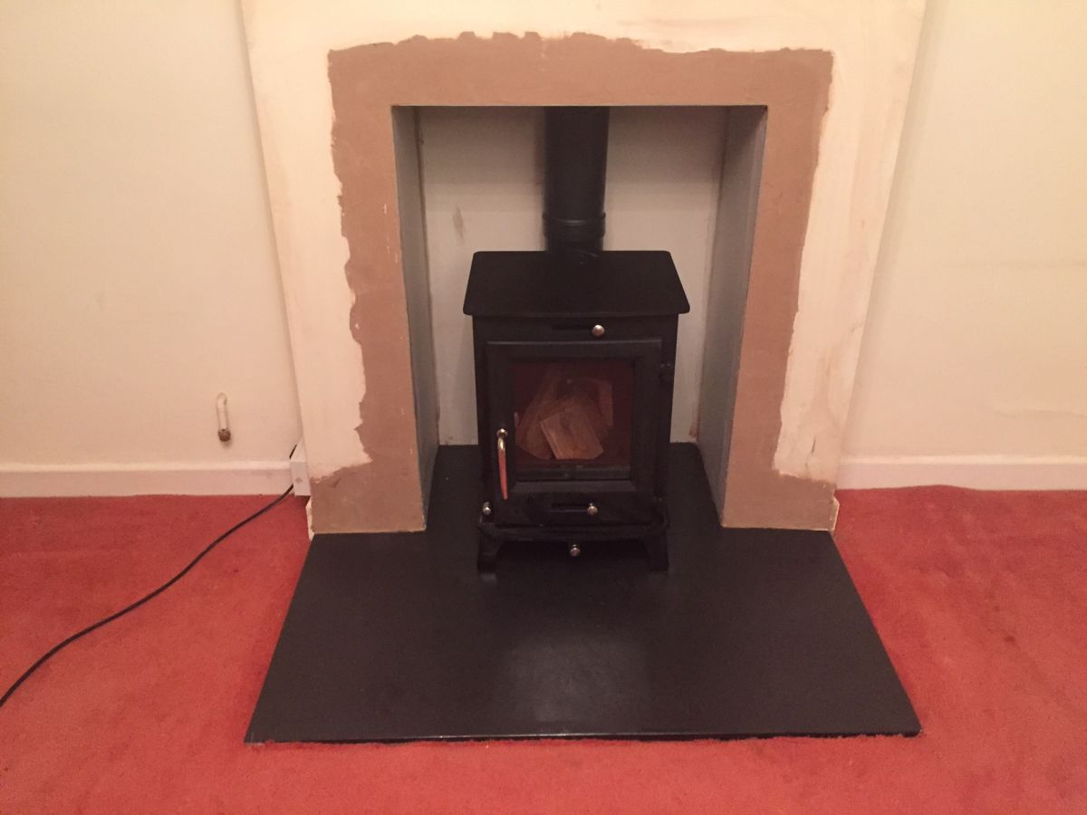 Fireplace knockout and Woodburner Installation