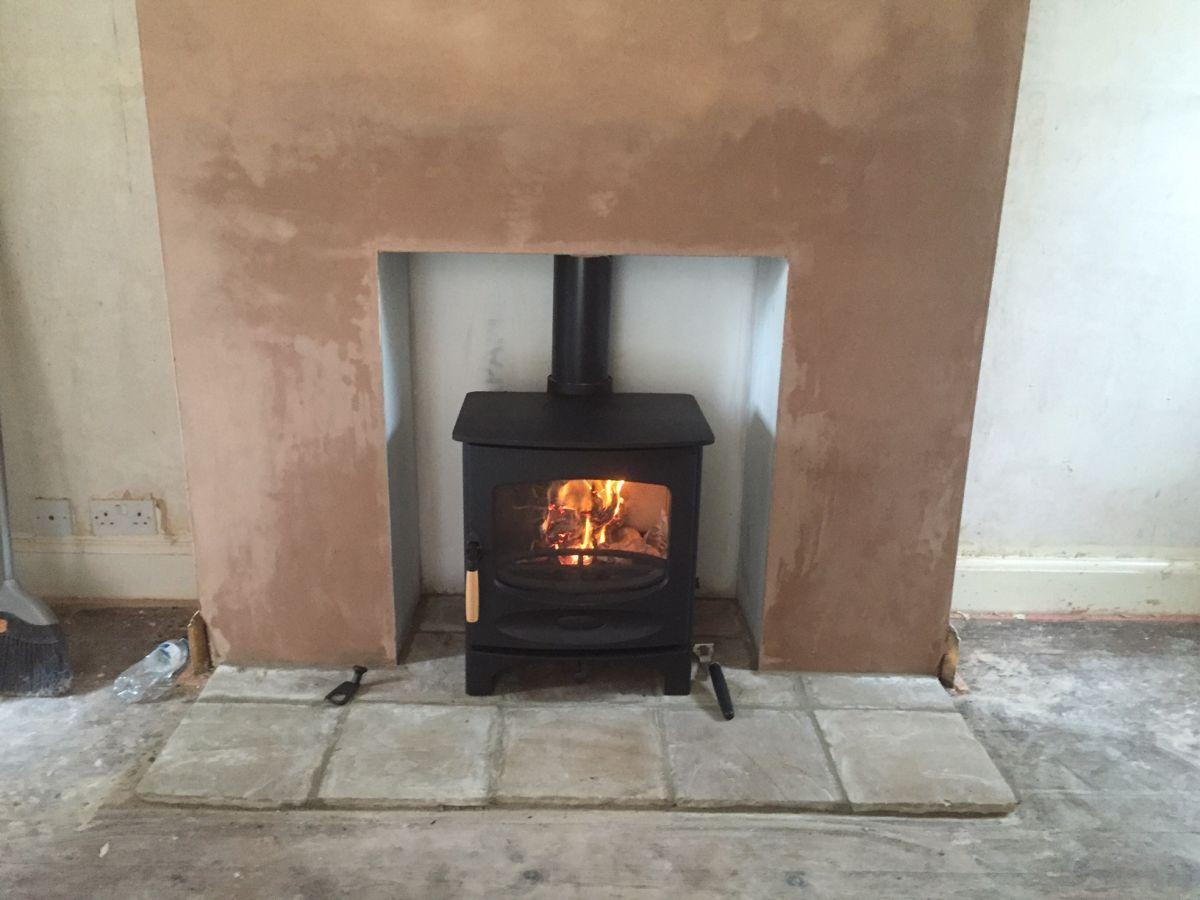 Installation of Charnwood C5 Woodburner in Taunton