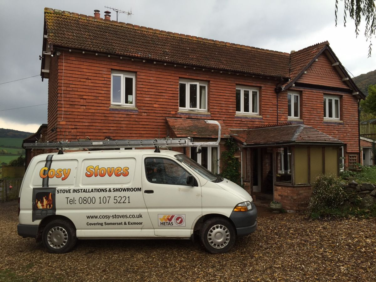 Installation of Charwood C5 stove in Minehead, Somerset
