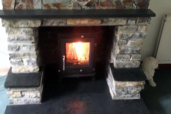 Installation of Hearth, Mantel, Chimney Pot and Woodburner in East Huntspill