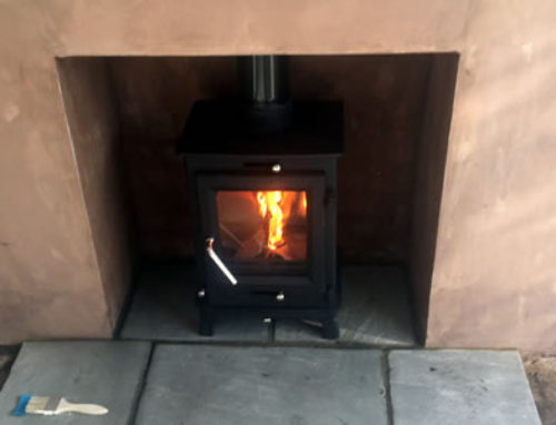 Installation of Defra eCosy Ottawa Woodburning stove in Taunton