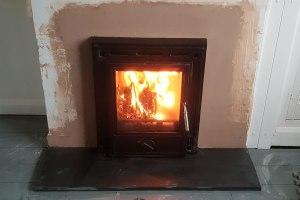 Inset Woodburner installation in Dulverton, Somerset