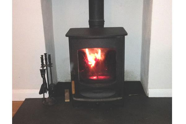 Installation of Charnwood C4 Woodburner in Dulverton
