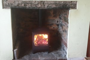 Woodburner Installation in East Anstey near Tiverton
