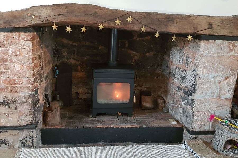 Woodburning Stove Installation in Credition, Devon.