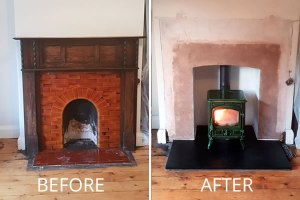 Fireplace Removal, Rebuild & Woodburner Installation in Minehead