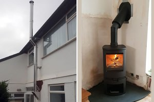 No Chimney, No Problem! - Woodburner Installation with External Chimney System
