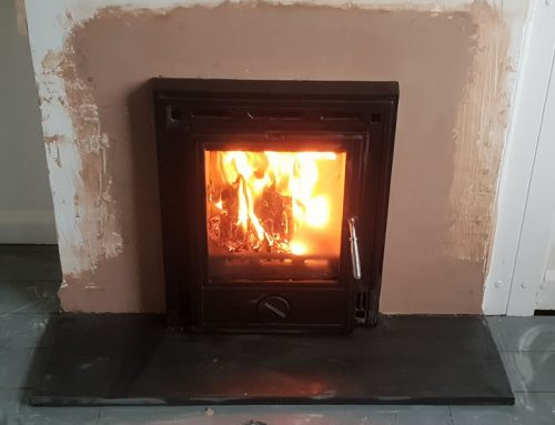 Inset Woodburner installation in Dulverton, Somerset