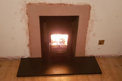 Ecosy Purefire Curve Defra Woodburner Installation in Stogursey