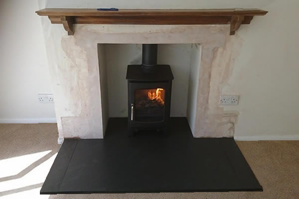 Fireplace Rebuild and Woodburner Installation in Trull, Taunton