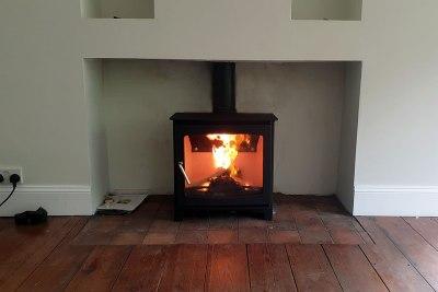 HETAS Woodburner installation in Holford