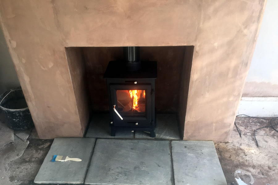 Installation of Defra eCosy Ottawa Woodburning stove in Taunton