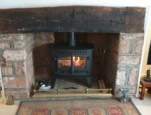 Installation of Hunter Inglenook Woodburner in Dunster on Exmoor