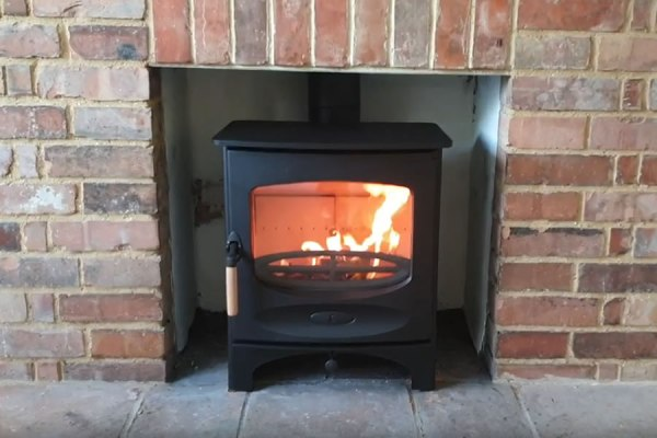 Installation of Charnwood C5 Blu Stove in Illminster