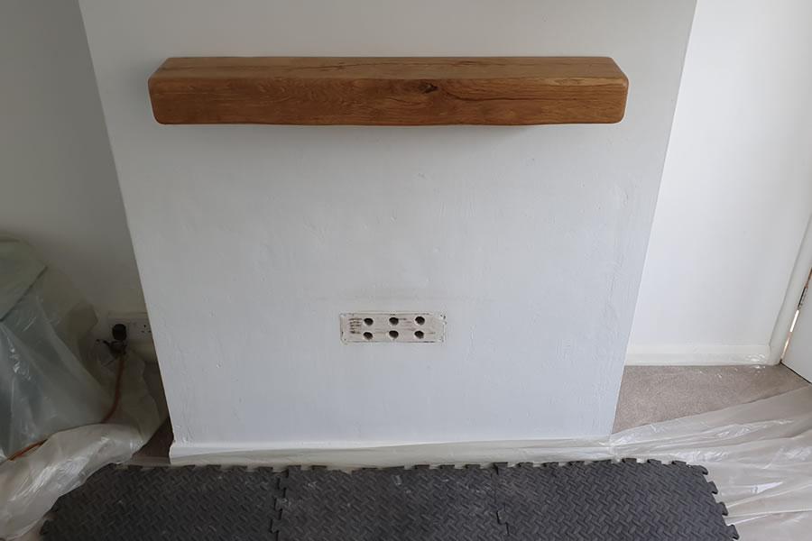 Fireplace renovation before