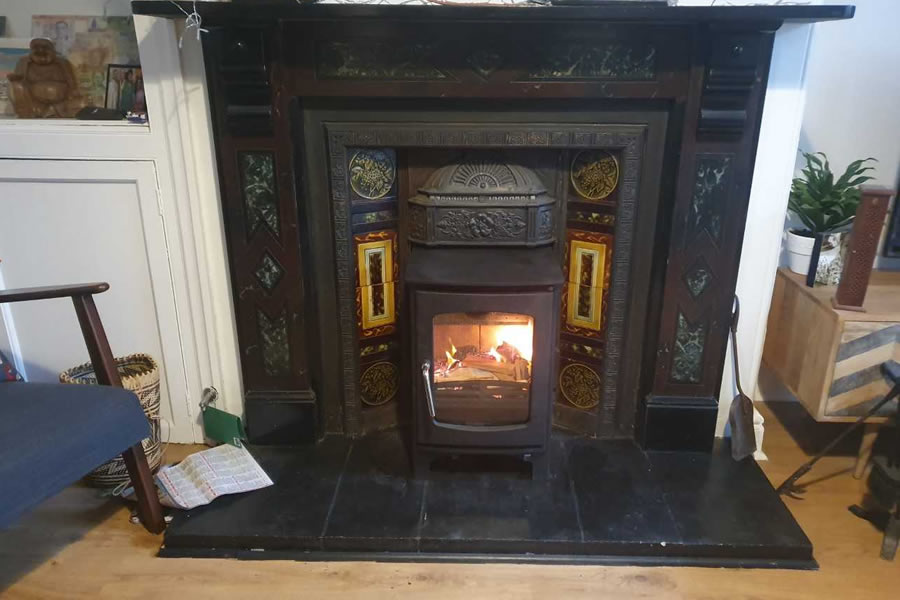 Woodburner installation a Victorian Fireplace in Wellington