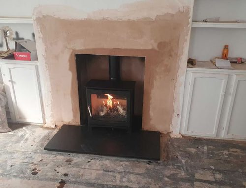 Fireplace Renovation and Installation of Woodburner in Quantoxhead