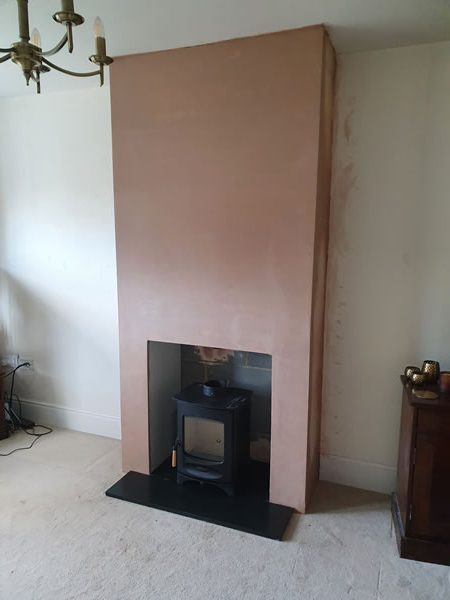 fales-chimney breast construcition plastered
