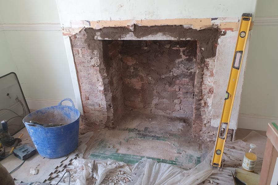 Chimney breast fireplace enlargement Burnham-on-Sea