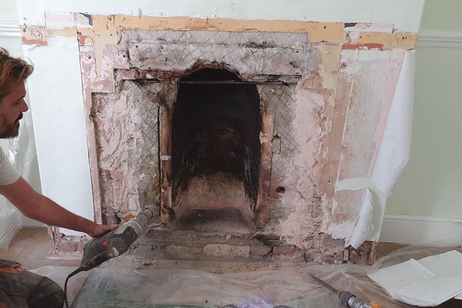 Fireplace renovation knockout Burnham-on-Sea