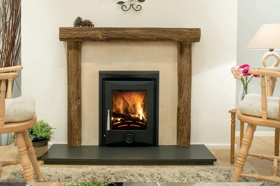 Oak effect fire resistant concrete composite mantel Berrynarbor