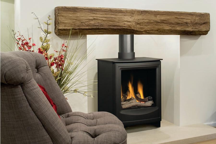 Oak effect fire resistant concrete composite mantel Netherton