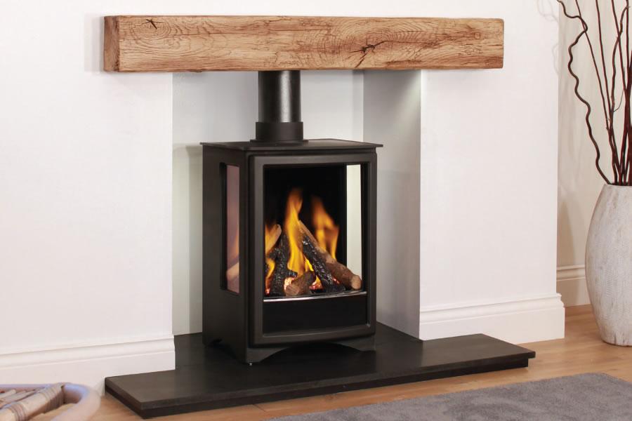 Oak effect fire resistant concrete composite mantel Widecombe
