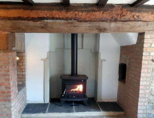 Installation of Clarke Majestic woodburner in Woolavington near Bridgwater.