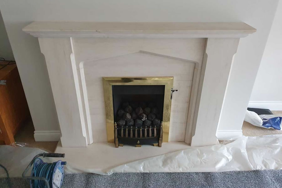 Removal of Gas fire and surround