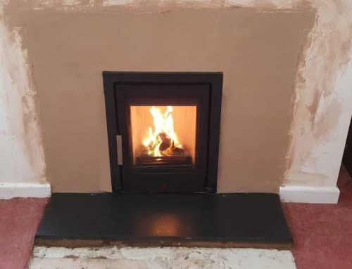Installation of ACR Tenbury T400 inset woodburner in North Curry, near Taunton.