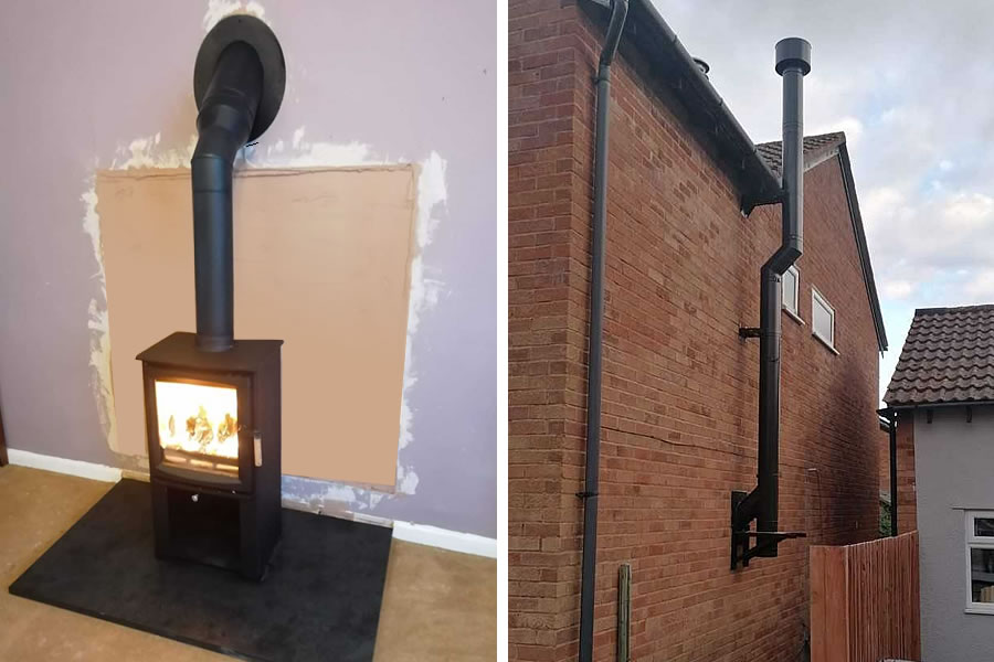 Woodburner installation with Twinwall Chimney System in North Petherton