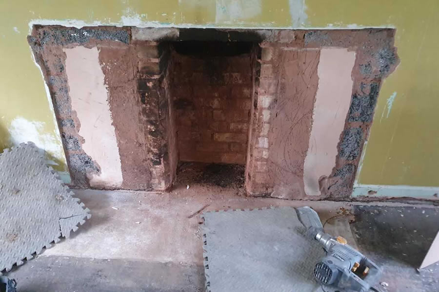 Before installation of Westfire 21 Compact Woodburner in North Pertherton