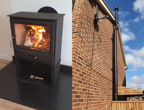 Woodburner installation in Taunton using twinwall chimney system