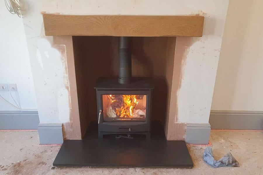 hetas chimnefireplace renovation and woodburner installation in Burnham-on-Sea