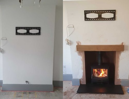 Fireplace renovation & woodburner installation in a day? No problem!