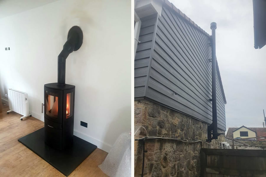 Twinwall Woodburner installer in Burtle, Somerset