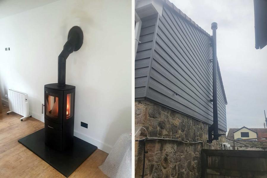 Twinwall Woodburner installer in Burtle, Somerset