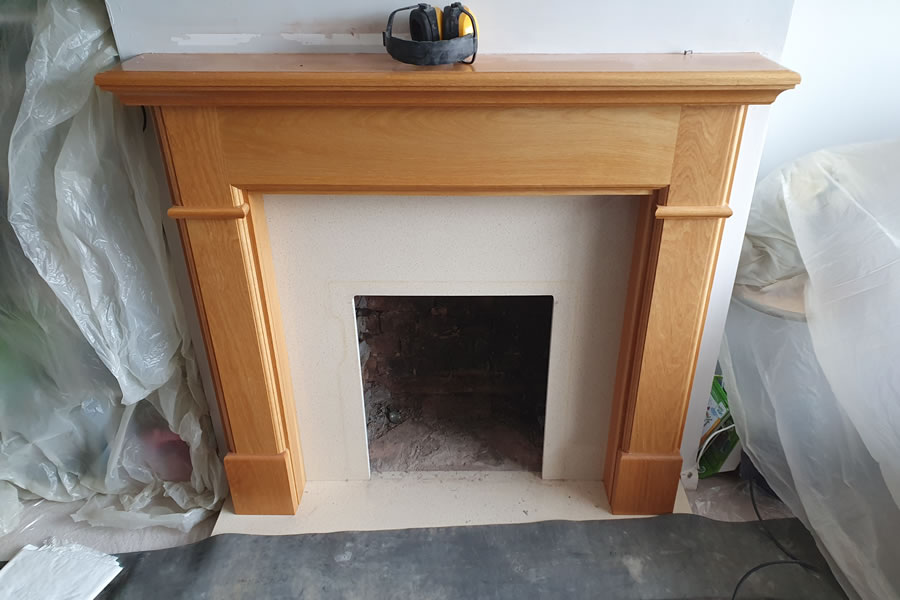 Before installation inset woodburner in Exeter