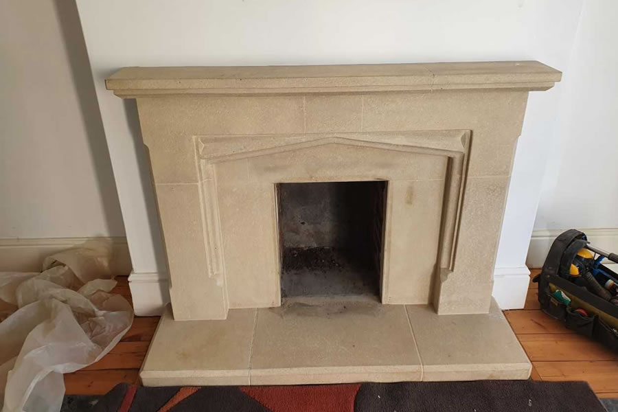 Fireplace renovation and woodburner installation in Taunton Before