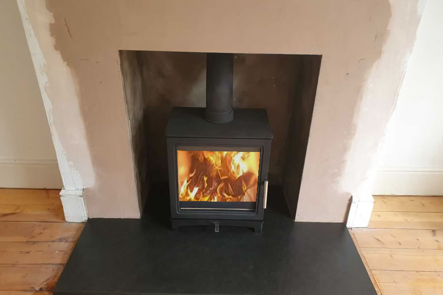 Fireplace renovation and woodburner installation in Taunton completed