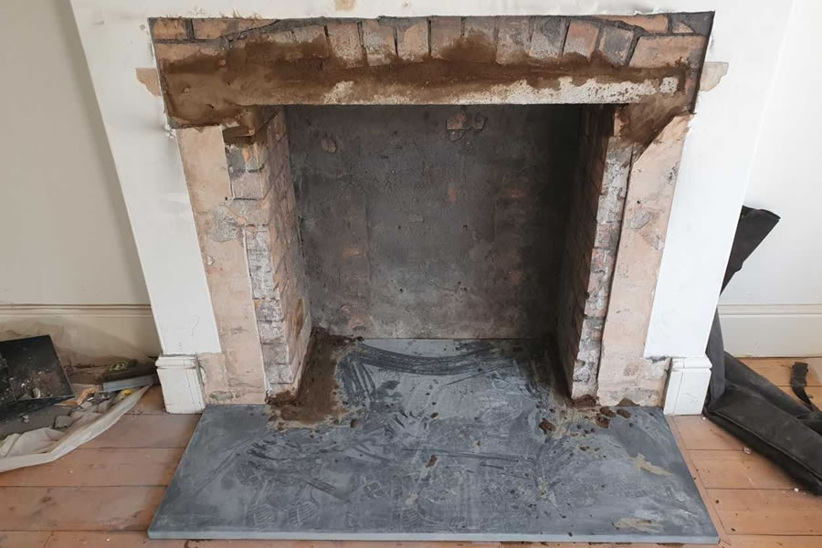 Fireplace renovation and woodburner installation in Taunton
