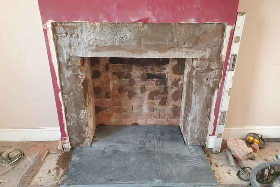 During fireplace renovation in West Buckland