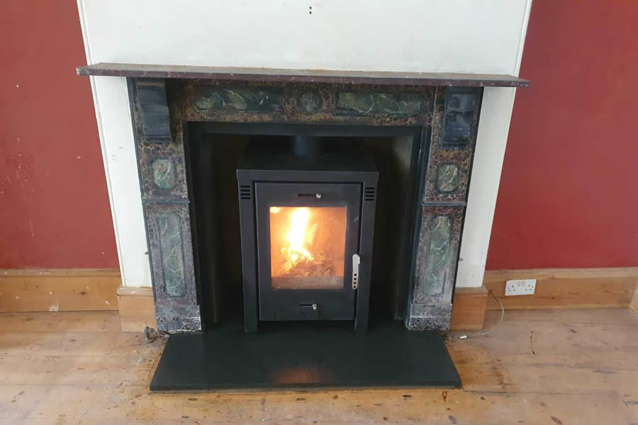 Completed fireplace renovation and restoration in Wellington, Somerset