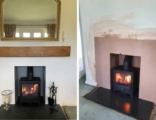 Fireplace renovation and woodburner installation in Corfe near Taunton