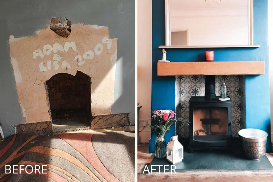 HETAS Fireplace renovation woodburner installation Taunton