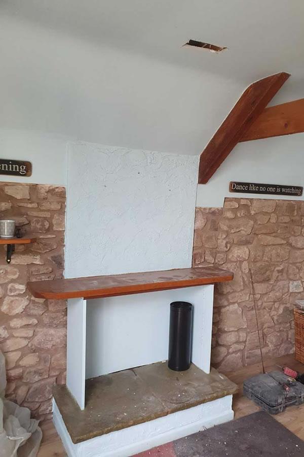 Woodburner twinwall installation Fiddington, Nether Stowey Completed